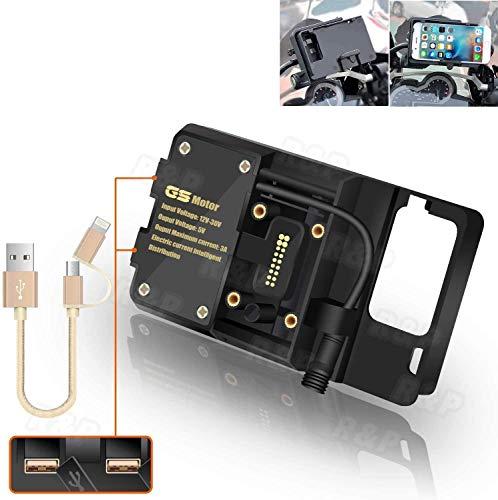 Kamenda Universal Moto Moto Teléfono Móvil Navegación Soporte GPS Frontal Soporte Soporte con USB para BMW R1200GS LC & Adventure S1000XR R1200RS