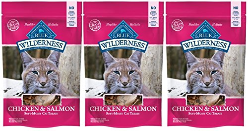 Blue Buffalo Wilderness Grain Free Cat Treats Chicken & Salmon 3 Packages