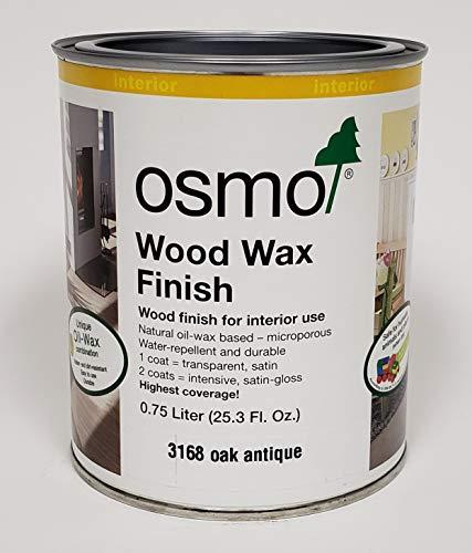 Osmo Wood Wax Finish Transparent, 3168 Oak Antique - .750 Liter