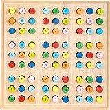 small foot- Sudoku « Couleurs » en Bois pour Enfants, Jeu de société à partir de 6 Ans, 2489, One Color, Taille Unique