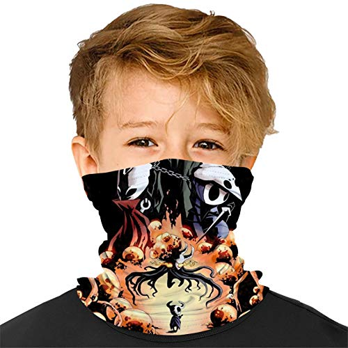 Zooshum Hol-low Kni-ght Boys Girls Scarf Kids Bandana Balaclava Adjustable Reusable Washable