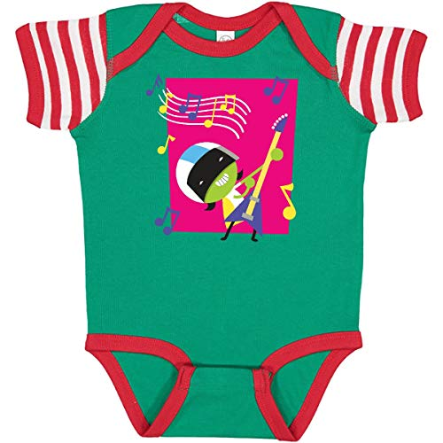 inktastic Dee Infant Creeper 18 Months Green, Red and White - PBS Kids 3788b