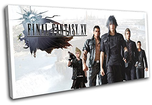 Bold Bloc Design - Final Fantasy XV Xbox ONE PS4 PC Gaming 120x60cm Single Canvas Art Print Box Framed Picture Wall Hanging - Hand Made in The UK - Framed and Ready to Hang