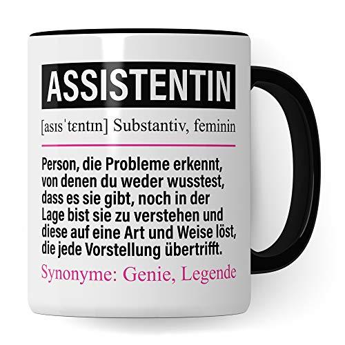 Pagma Druck Tasse Assistentin lustig, Assistentin Geschenk, Spruch Hilfskraft Geschenkidee, Kaffeetasse Beruf Kaffeebecher Teetasse Assistent Becher
