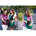Puppy Eyes Pet Carrier Sling Ideal for Small & Medium Dogs, Cats or Rabbits up to 15 lb. Comfortable & Easy-Care | Free Seat Belt & Ebook | Adjustable & Reversible Design with Zippered Pocket 13