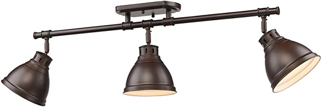 Golden Lighting 3602-3SF RBZ Duncan Semi-Flush - Damp, Rubbed Bronze