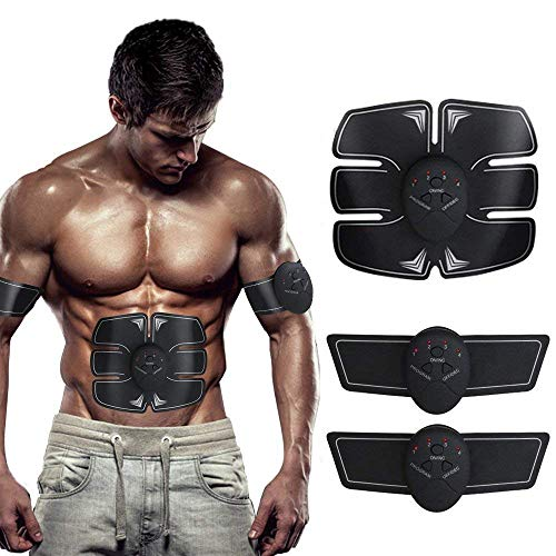 SHENGMI EMS Muscle Stimulator, ABS Trainer Ab Toner Belt Abdominal Exerciser Abs Stimulator Muscle Toner Stomach Toning Belt Six Pack Abs Pad Muscle Training for Men & Women