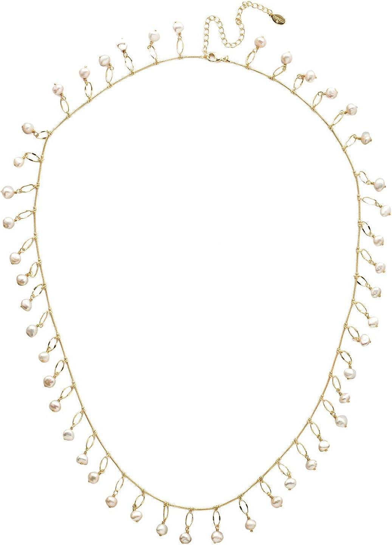 Sorrelli Milana Long Strand Necklace, Bright Gold-Tone Finish, Polished Pearl, One Size (NEC3BGPLP)