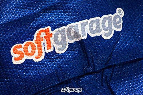 SOFTGARAGE 5-lagig blau Slim fit Premium Indoor Outdoor atmungsaktiv wasserabweisend Car Cover Vollgarage Ganzgarage Autoplane Autoabdeckung 911030-0583285