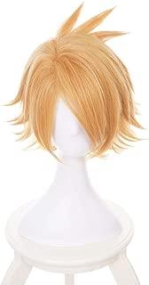 MUZI WIG Short Anime Cosplay Wig for My Hero Academia Denki Kaminari Synthetic Wig with Free Wig Cap