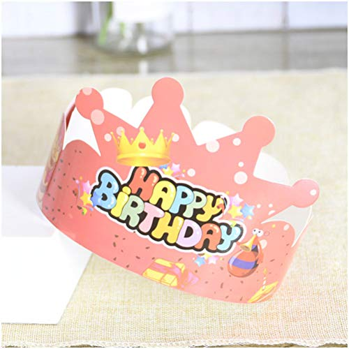 GAOJIAN Paper Crown Happy Birthday Hat Adult Creative Dress Up Kids Party Crown Hat Cake Decoration Crown Hat Cap B 100pcs