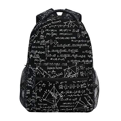 OOWOW, zaino scolastico per la matematica educativa con formula geometrica, zaino leggero e impermeabile, borsa a tracolla per la scuola elementare