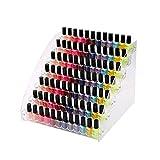 NaiCasy Esmalte de uñas del Soporte de exhibición de acrílico del Clavo Estante Polaco Soporte de la Botella de Aceite Organizador de Maquillaje joyería Organizador para Botellas de 7 Plantas