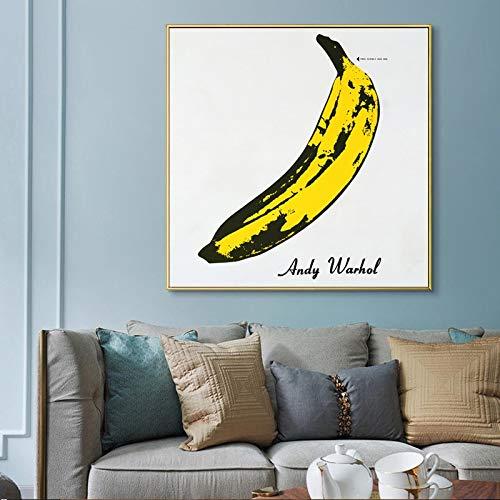 Bosses Lienzo Pintura de Andy Warhol de Gran tamaño plátano Imagen pósters clásicos y Prints Pared Cuadros for la decoración de la Sala de Estar sin Marco Sin Marco (Size (Inch) : 20x20)