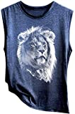 Winodfrw Womens Tank Tops,Womens Plus Size Tank Tops Tiger Print Summer Loose Fit Casual Sleeveless T Shirts Tunic...