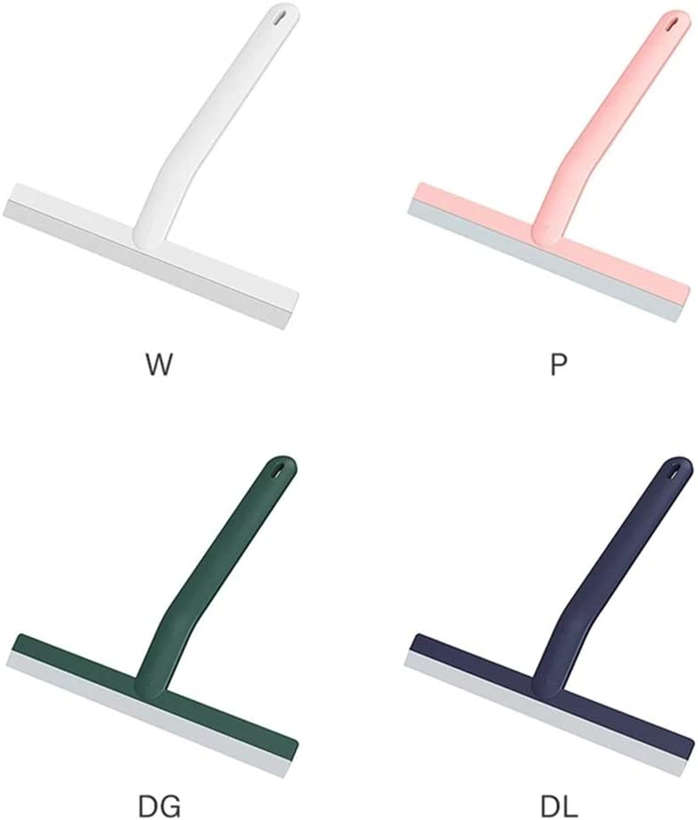 Pink+White Tee Vee 2-Pack Silicone Window Squeegee w//Hanging Hole Glass Wiper Mirror Cleaning Tool for Washing Shower Door Bathroom Kitchen Car