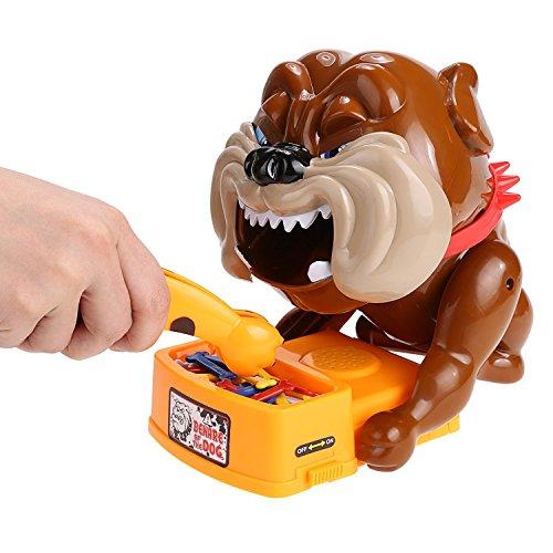 Jzhen Vorsicht vor dem Hund Kinder Spielzeug,Elektronische Hund Sound Brettspiel