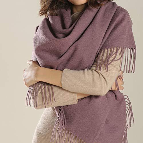 TIANPIN 100% pure wol sjaal Stola zachte sjaal stola wrap kasjmier dikke effen unisex sjaal, warm om te houden, herfst en winter