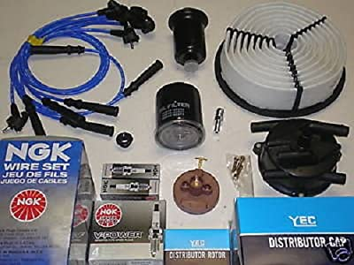 TBK Tune Up Kit Replacement for Toyota 4Runner V6 1992-1995 All Filters, Distributor Cap, Ignition Rotor NGK Spark Plugs and Ignition Wire Set