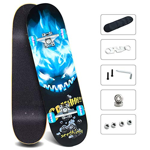 Skateboards with Colorful Flashing Wheels for Beginners & Pro, 31