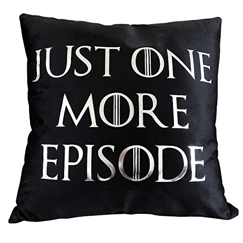 Just One More Episode Cushion Cover - Funny Great Gift for A TV Show Lover