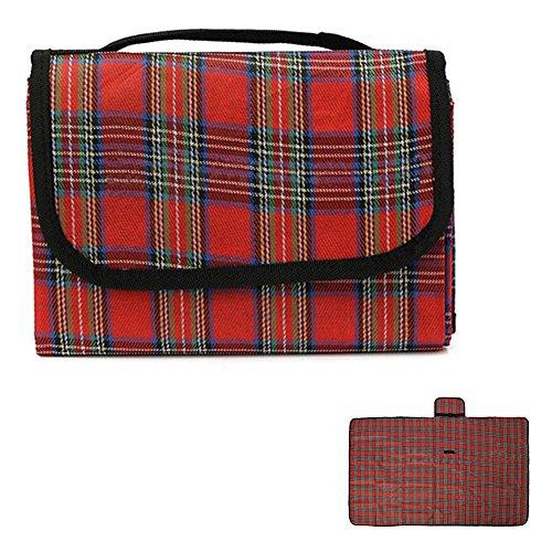Globaldeal Direct 149,9 cm Portable étanche extérieur Plage Camping Tapis de pique-nique Couverture Crawled Tapis Pad