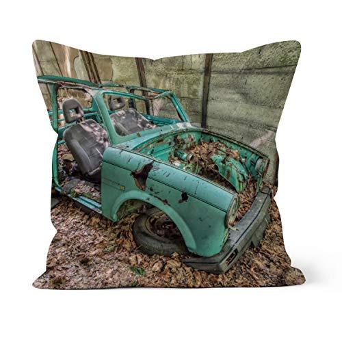 fotobar!style Motivkissen 40 x 40 cm mit Füllung Rostlaube - Trabant