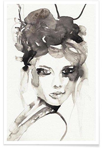 """JUNIQE® Poster 20x30cm Schwarz & Weiß Menschen - Design """"HOT MESS"""" (Format: Hoch) - Bilder, Kunstdrucke & Prints von unabhängigen Künstlern - Frauenbilder   Bilder mit Frauen - entworfen von Victoria Verbaan"""