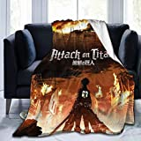 Jaxia Mikasa Ackerman-Attack On Titan Flannel Hooded Blankets Warm and Stylish Soft and Comfortable Suitable for All Ages 50x40 Inch
