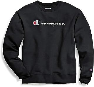 Champion mensGF88HGraphic Powerblend Fleece Crew Long Sleeves Sweatshirt