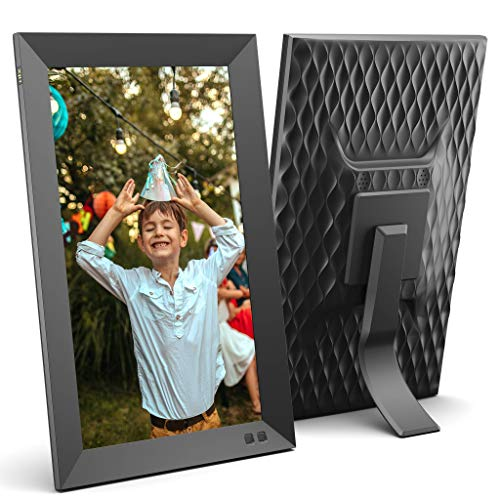 NIX 13.3 Inch USB Digital Picture Frame - Portrait or Landscape Stand, Full HD Resolution, Auto-Rotate, Remote Control - Mix Photos and Videos in The Same Slideshow