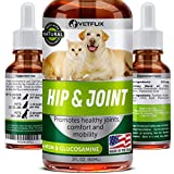Hip & Joint Supplement for Dogs & Cats - Glucosamine Chondroitin for Dogs - Mobility Supplement with Hyaluronic Acid - Turmeric, MSM & Vitamin C - Natural Arthritis Pain Relief & Mobility - All Breeds