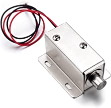 Atoplee 2pcs Door Drawer Tongue Down Electric Lock Assembly Solenoid DC 12V 0.8A Slim Design Lock