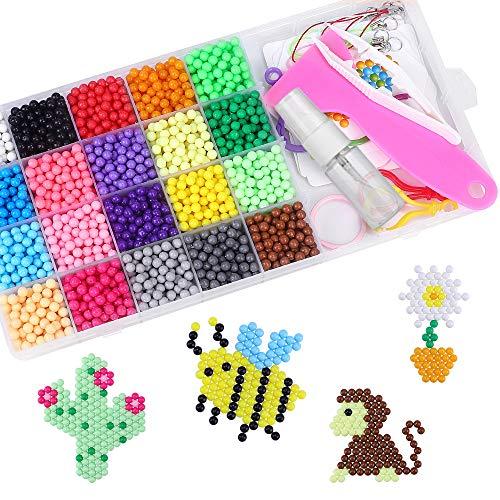CGBOOM Abalorios Cuentas de Agua 3200 Perlas Kit Perlas de Agua Niños DIY Educativos Artesanía Kit Beados Recambios