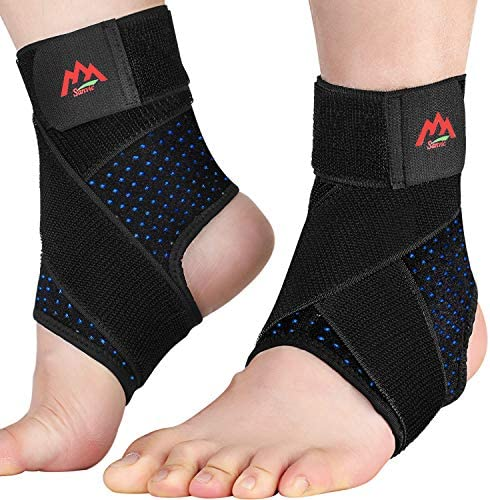 Ankle Brace 2PCS Ankle Braces for Men Women Adjustable Compression Ankle Wrap Support for Ankle product image