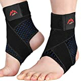 Ankle Brace, 2PCS Ankle Braces for Men & Women, Adjustable Compression Ankle Wrap Support for Ankle Protection, Breathable & Comfortable, Ankle Support Brace for Sprains, Sports Injuries and Recovery