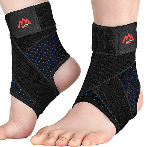 Ankle Brace 2PCS Ankle Braces for Men amp Women Adjustable Compression Ankle Wrap Support for Ankle Protection Breathable amp Comfortable Ankle Support Brace for Sprains Sports Injuries and Recovery