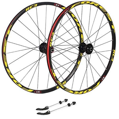 YBNB 26 Ruedas De Ciclismo, Llanta MTB De Doble Pared para Bicicleta, Freno En V De Liberación Rápida, Disco Híbrido/Perforado, 7 8 9 10 Velocidades, 135 Mm