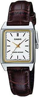 Casio Women White Dial Leather Band Casual Watch - LTP-V007L-7E2UDF