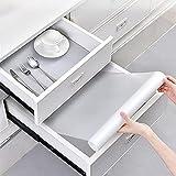 Alfombrilla antideslizante e impermeable para armario, no adhesiva (transparente, 4 rollos, 60 x 150 cm) goma EVA, para armario, cajón y refrigerador, antiincrustante, antihumedad, para casa u oficina