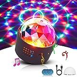 Discokugel, LED Lichteffekt Mini DJ Balls Licht 3W LED RGB Sound Control USB Charge Magnet Adsorption Portable Bühnenbeleuchtung für Party Home Car KTV Bar Bühnenfeier