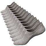 Anliceform Calcetines tobilleros premium de algodón, estilo casual, antideslizantes para hombre. (Color 10 (6 Pares Gris), 38-43)