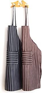 VOVCIG Delantal de Cocina con Doble Bolsillo, Resistente al