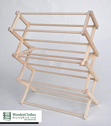 Small Wooden Clothes Drying Rack by Benson Wood Products