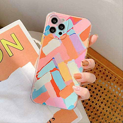 LIMITED para iPhone 12 Pro Funda Graffiti Geometric Clear Phone Case para iPhone 12 11 Pro MAX XS MAX X XR 8 7 Plus Funda Suave a Prueba de Golpes para iPhone 12 Pro a