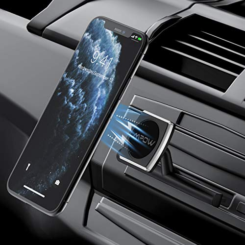 Mpow Soporte Movíl Magnético para Ranura de CD de Coche, Cuna-Smartphone para Coche, CD Slot Cradle-less Montaje de Móviles Apoyo 360 °Gratuito Giratorio para iPhone 7/ 8/ X, Samsung, GPS Navegador