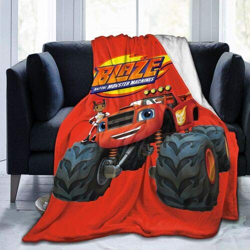 xiaoxiaoshen Blaze and The Monster Machines, The Flannel Blanket is A Lightweight and Super Soft Living Room Sofa That Feels Great 50x40 Inches