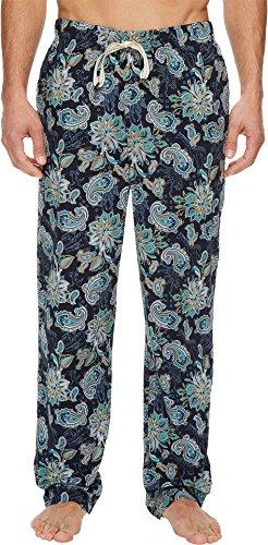 Original Penguin Men's Woven Pajama Bottom Pant Pj, Dark Denim Animal Paisley, Large
