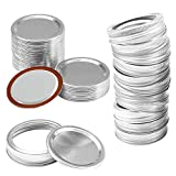 Canning Lids Regular Mouth, Seal Mason Jar Lids Leak Proof for Making Juice or Storage Food Reusable Small Canning Lids and Rings Supplies (48pcs) (70MM Regular Mouth)