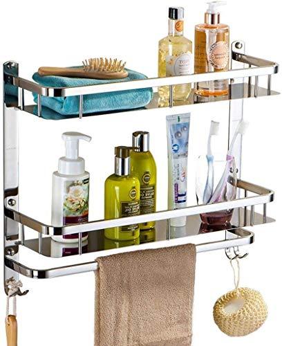 Badkamerrek, gemakkelijk te reinigen, voor oven in de keuken, rek voor woonkamer, vaas, ophangopbergen, handdoekhouder, kleur: zilver, afmetingen: 60 x 64 cm 40*64cm Zilver.
